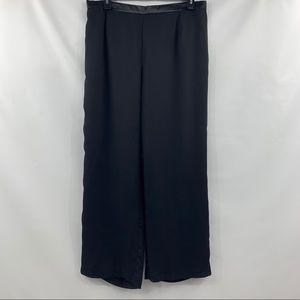 Nipon Boutique Black Layered Pants Satin Waist